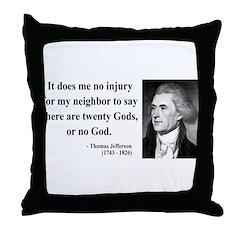 Thomas Jefferson 9 Throw Pillow