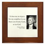 Thomas Jefferson 9 Framed Tile