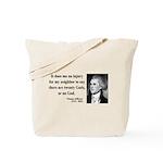 Thomas Jefferson 9 Tote Bag