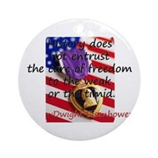 Dwight Eisenhower Ornament (Round)