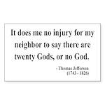 Thomas Jefferson 9 Rectangle Sticker