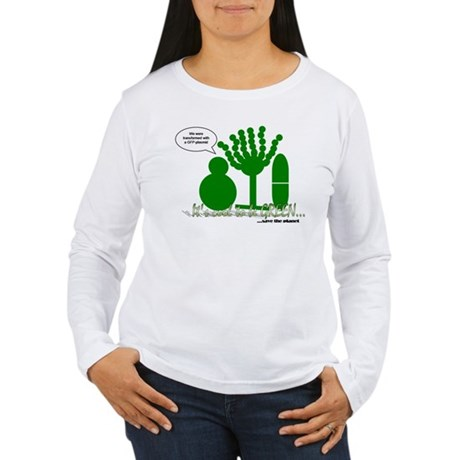 GFP-tagged Microbes Women's Long Sleeve Shirt
