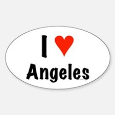 I love Angeles Oval Decal