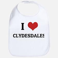 I Love Clydesdales Bib