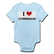 I Love Clydesdales Infant Creeper
