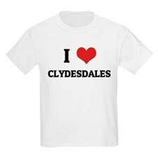 I Love Clydesdales Kids T-Shirt