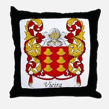 Vieira Family Crest Throw Pillow