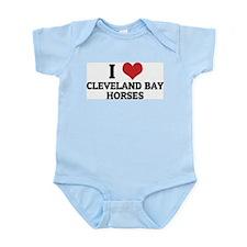 I Love Cleveland Bay Horses Infant Creeper