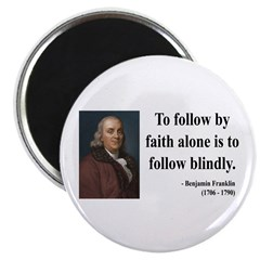 """Benjamin Franklin 16 2.25"""" Magnet (100 pack)"""