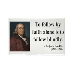 Benjamin Franklin 16 Rectangle Magnet (100 pack)