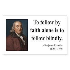 Benjamin Franklin 16 Rectangle Decal