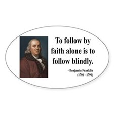 Benjamin Franklin 16 Oval Decal