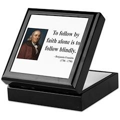 Benjamin Franklin 16 Keepsake Box