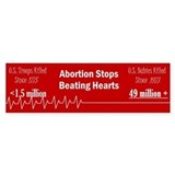 Abortion stops a beating heart Single