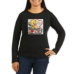 Ducky Valentine Women's Long Sleeve Dark T-Shirt