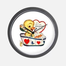 Ducky Valentine Wall Clock