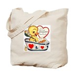 Ducky Valentine Tote Bag