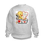 Ducky Valentine Kids Sweatshirt
