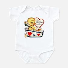 Ducky Valentine Infant Bodysuit