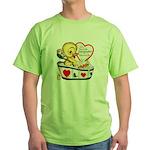 Ducky Valentine Green T-Shirt
