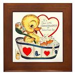 Ducky Valentine Framed Tile