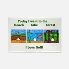 I Love Golf Rectangle Magnet