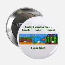 "I Love Golf 2.25"" Button"