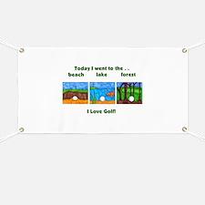 I Love Golf Banner