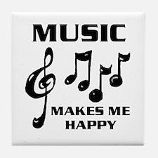 I LIVE FOR MUSIC Tile Coaster