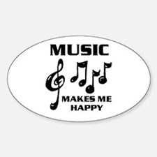 I LIVE FOR MUSIC Oval Decal