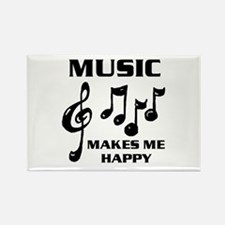 I LIVE FOR MUSIC Rectangle Magnet
