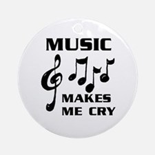 I LIVE FOR MUSIC Ornament (Round)