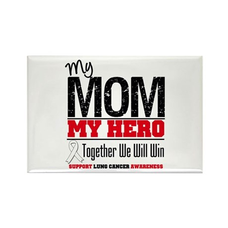 Lung Cancer Hero Rectangle Magnet