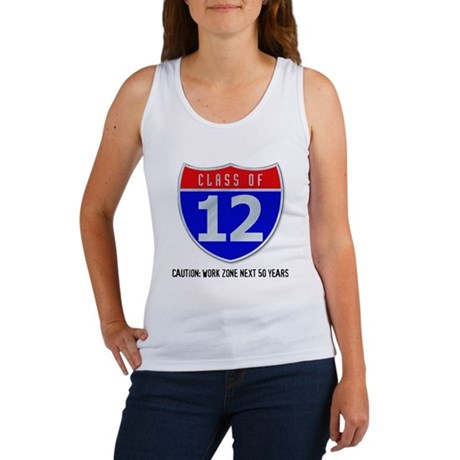 Class of 12 Road Sign Women's Tank Top