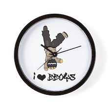 I Heart BBoys Wall Clock