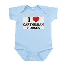 I Love Carthusian Horses Infant Creeper