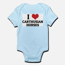 I Love Carthusian Horses Infant Creeper