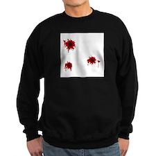 Bloody Bullet Hole Sweatshirt