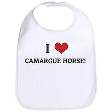 I Love Camargue Horses Bib