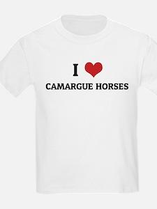 I Love Camargue Horses Kids T-Shirt