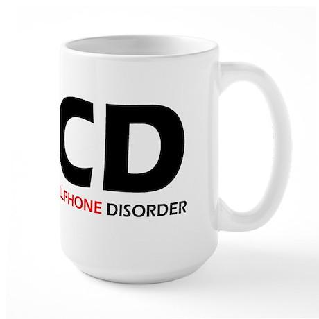 Obsessive Cellphone Large Mug