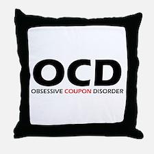 Obsessive Coupon Throw Pillow