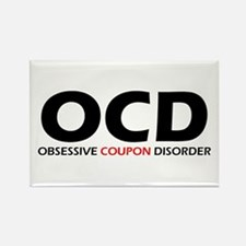Obsessive Coupon Rectangle Magnet