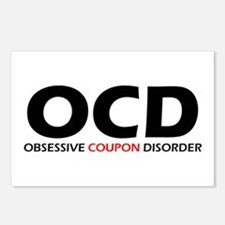 Obsessive Coupon Postcards (Package of 8)