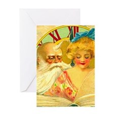 New Year Father Time Greeting Card