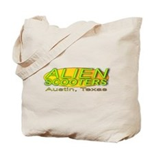 Alien Scooter Tote Bag