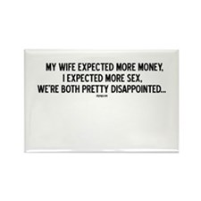 DISAPPOINTED EXPECTATIONS Rectangle Magnet
