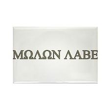 Molon Labe - Greek Lettering Rectangle Magnet