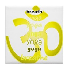 Funny Peace love and pilates Tile Coaster