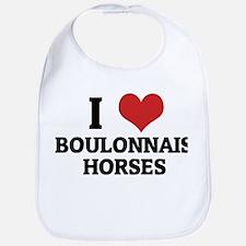 I Love Boulonnais Horses Bib